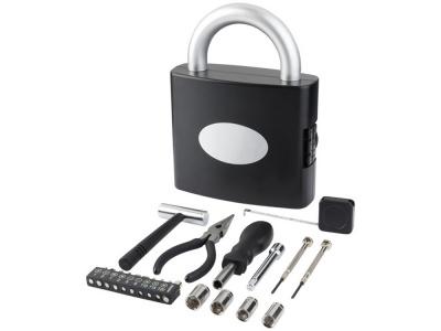 OA2003022907 Инструментальный ящик с 21 инструментом Locky, черный
