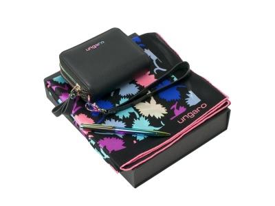 OA2003028782 Ungaro. Подарочный набор: платок шелковый, кошелек дамский, ручка шариковая. Ungaro