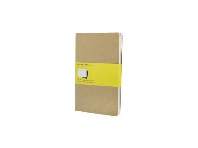 50712217 Записная книжка Moleskine Cahier (в клетку, 3 шт.), Large (13х21см), бежевый