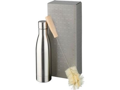 OA2003028975 Avenue. Набор из медной бутылки с вакуумной изоляцией Vasa и щетки, серебристый