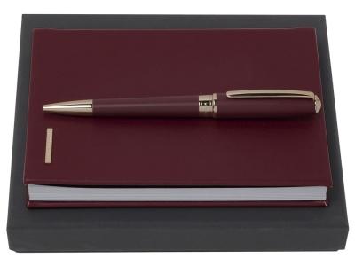 OA2003029142 Hugo Boss. Подарочный набор Essential Lady Burgundy: блокнот А6, ручка шариковая. Hugo Boss