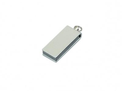 OA2003025412 Флешка с мини чипом, минимальный размер, цветной  корпус, 64 Гб, серебристый
