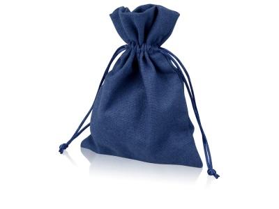 OA1701222972 Мешочек подарочный, лен, средний, темно-синий