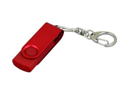 OA2003025379 Флешка промо поворотный механизм, с однотонным металлическим клипом, 16 Гб, красный