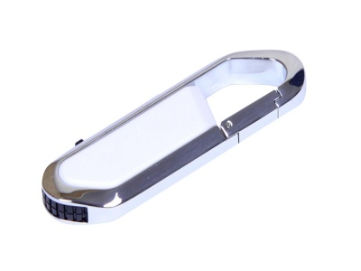 OA2003025447 Флешка в виде карабина, 16 Гб, белый/серебристый