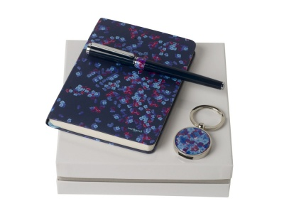 OA200302658 Cacharel. Подарочный набор Blossom: брелок с USB-флешкой на 16 Гб, блокнот A6, ручка-роллер. Cacharel
