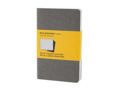 60712210 Записная книжка Moleskine Cahier (в клетку, 3 шт.), Pocket (9х14см), серый
