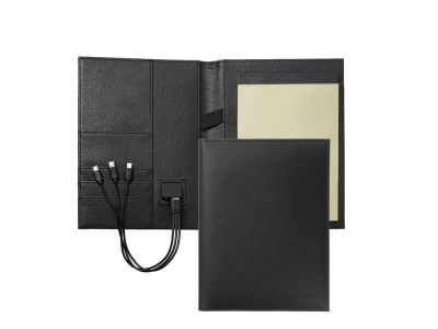 OA2003028541 Hugo Boss. Папка формата А5 + портативное зарядное устройство Storyline Black