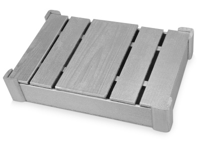 OA1701222711 Подарочная деревянная коробка, серебристый