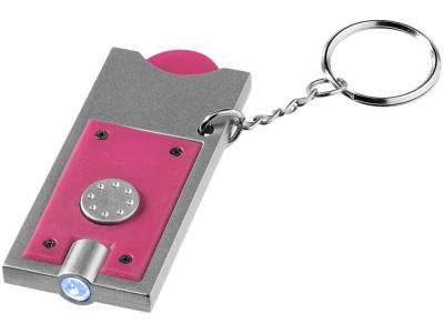 OA183032142 Брелок-держатель для монет Allegro с фонариком, фуксия/серебристый