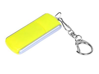OA2003025123 Флешка промо прямоугольной формы, выдвижной механизм, 64 Гб, желтый