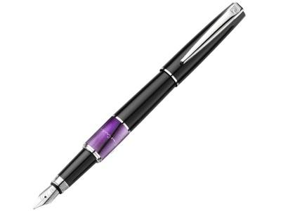 417556 Ручка перьевая Pierre Cardin LIBRA с колпачком, черный/фиолетовый/серебро