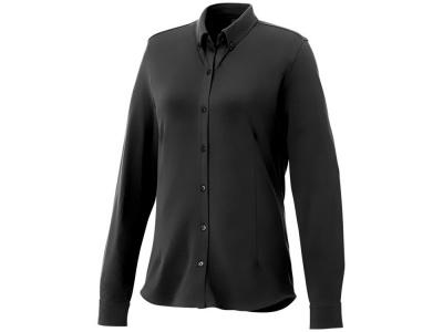 OA2003026474 Elevate. Женская рубашка Bigelow из пике с длинным рукавом, черный