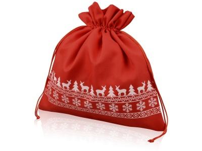OA1701222987 Мешочек подарочный новогодний, хлопок, большой, красный