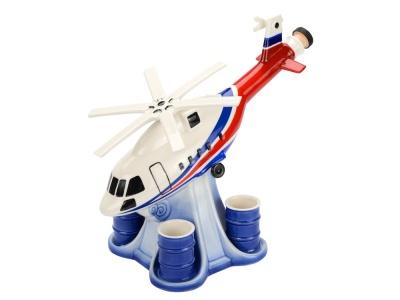 OA1701408099 Штоф Вертолет с четырьмя стопками