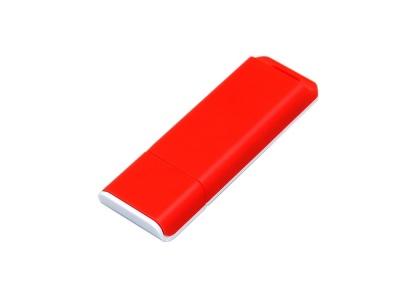 OA2003025052 Флешка прямоугольной формы, оригинальный дизайн, двухцветный корпус, 64 Гб, красный/белый