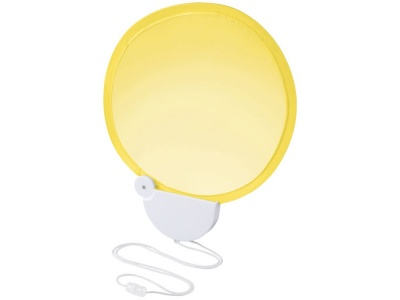 OA1830321416 Складной вентилятор (веер) Breeze со шнурком, желтый/белый