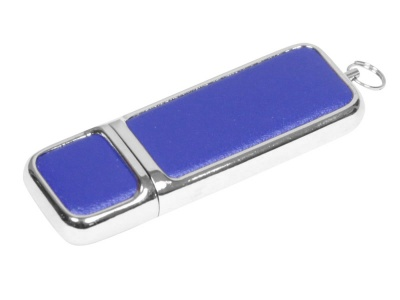 OA2003025213 Флешка компактной формы, 16 Гб, синий/серебристый