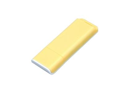 OA2003025054 Флешка прямоугольной формы, оригинальный дизайн, двухцветный корпус, 64 Гб, желтый/белый