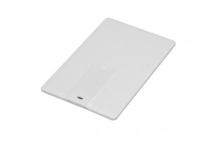 OA2003025100 Флешка в виде пластиковой  карты c удобным откидным механизмом, 16 Гб, белый