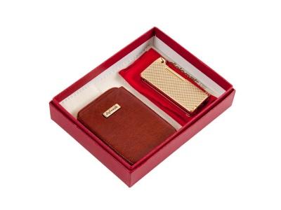 OA2003026736 Diplomat. Подарочный набор: визитница и стильная трубочная зажигалка