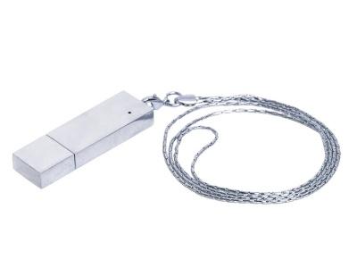 OA2003025282 Флешка прямоугольной формы в виде металлического слитка, 64 Гб, серебристый