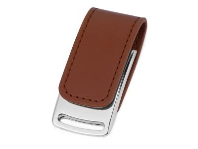 OA2003024328 Флеш-карта USB 2.0 16 Gb с магнитным замком Vigo, светло-коричневый/серебристый