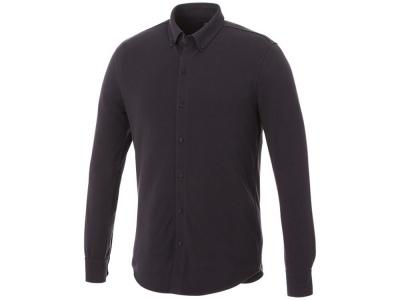 OA2003026436 Elevate. Мужская рубашка Bigelow из пике с длинным рукавом, серый графитовый