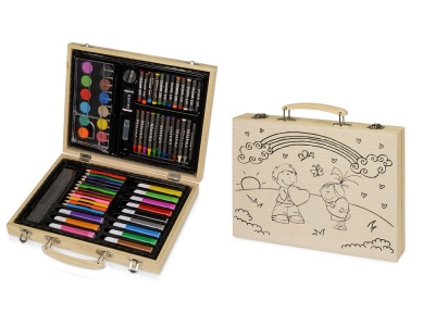 OA2003026730 Набор для рисования из 67 предметов в чемодане с рисунком