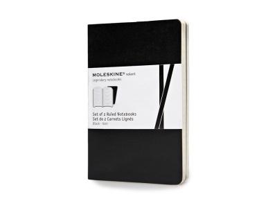 60212107 Записная книжка Moleskine Volant (в линейку, 2 шт.), Pocket (9х14см), черный