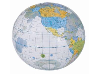 OA93P-CLR1 Мяч надувной пляжный Globe, разноцветный