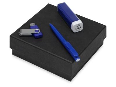 OA2003023801 Подарочный набор On-the-go с флешкой, ручкой и зарядным устройством, синий