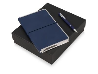 OA2003023815 Подарочный набор Silver Sway с ручкой и блокнотом А5, синий