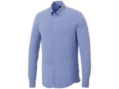 OA2003026422 Elevate. Мужская рубашка Bigelow из пике с длинным рукавом, светло-синий