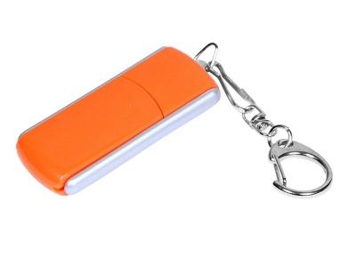 OA2003025120 Флешка промо прямоугольной формы, выдвижной механизм, 64 Гб, оранжевый