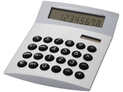 OA80O-SLR4 Калькулятор с конвертером валют Face-it, серебристый