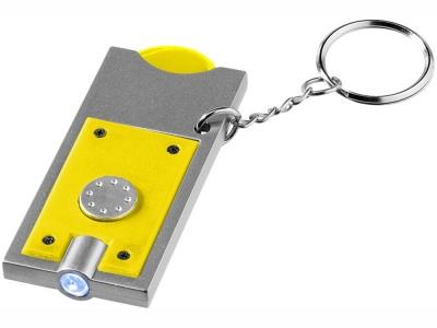 OA15094602 Брелок-держатель для монет Allegro с фонариком, желтый/серебристый