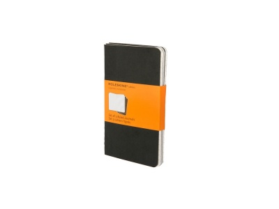 60712107 Записная книжка Moleskine Cahier (в линейку, 3 шт.), Pocket (9х14см), черный