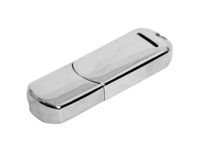 OA2003025288 Флешка каплевидной формы, современный дизайн, 64 Гб, серебристый