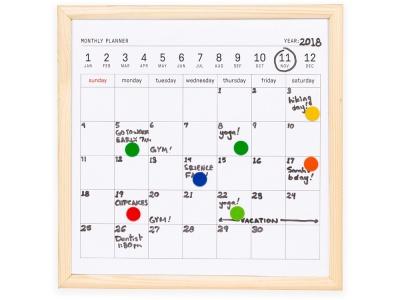 OA2003028399 Kikkerland. Календарь для заметок с маркером Whiteboard calendar