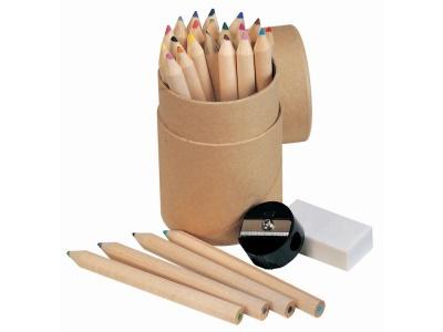 OA82S-BRN20 Набор из 24 карандашей с точилкой и ластиком