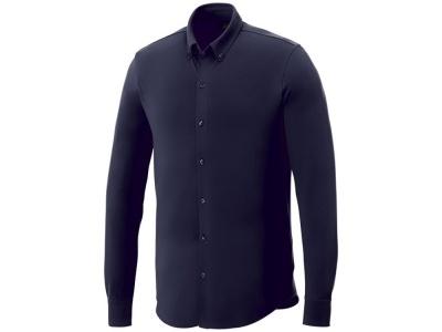 OA2003026429 Elevate. Мужская рубашка Bigelow из пике с длинным рукавом, темно-синий