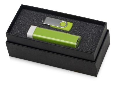 OA2003023769 Подарочный набор Flashbank с флешкой и зарядным устройством, зеленый
