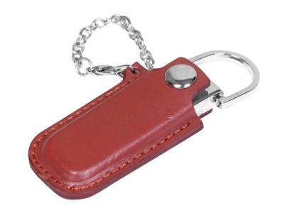 OA2003025343 Флешка в массивном корпусе с кожаным чехлом, 32 Гб, коричневый
