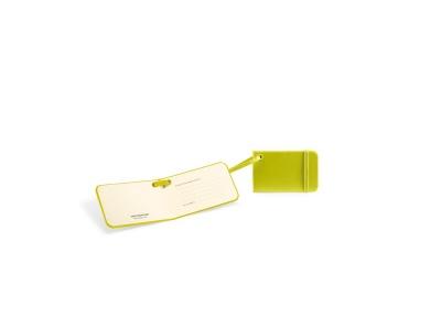 MS14A-GRN1 Moleskine Travelling Collection. Ярлык для багажа Moleskine Luggage Tag, зеленый