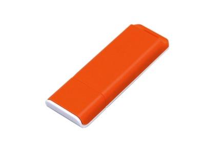 OA2003025051 Флешка прямоугольной формы, оригинальный дизайн, двухцветный корпус, 64 Гб, оранжевый/белый