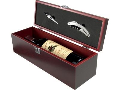 OA82S-BRN49 Avenue. Коробка для вина Executive с пробкой для бутылки и штопором
