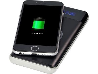 OA2003023653 Avenue. Беспроводной внешний аккумулятор на 10000 мА/ч со светодиодным дисплеем Constant, черный