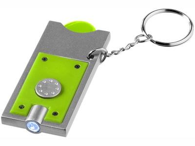 OA15094600 Брелок-держатель для монет Allegro с фонариком, лайм/серебристый