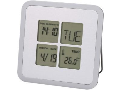 OA81W-SLR5 Погодная станция-часы, будильник, календарь Livorno, серебристый